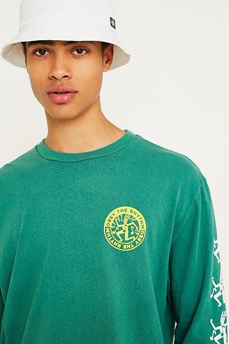eddcd89f65c OBEY the Rhythm Teal Long-Sleeve T-Shirt