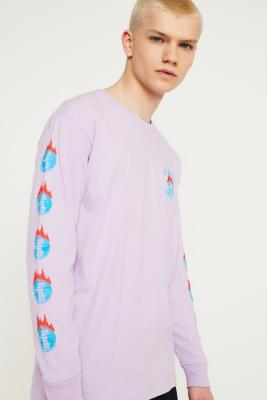 obey-the-world-is-yours-lavender-long-sleeve-t-shirt by obey