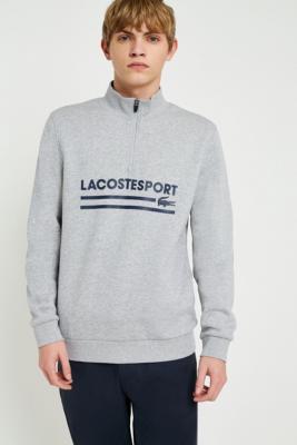 Lacoste Sport Grey Quarter Zip Pullover Sweatshirt by Lacoste