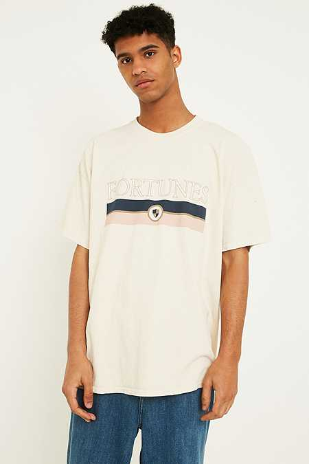 UO Overdyed Fortunes Off-White T-Shirt