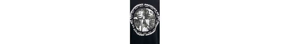 "Thumbnail View 4: Lord of the Mics – Hoodie ""Product Of My Environment"" in Schwarz"