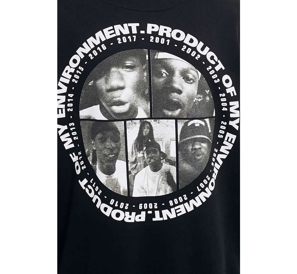 "Slide View: 4: Lord of the Mics – Hoodie ""Product Of My Environment"" in Schwarz"