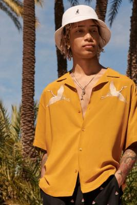 Loom Crane Mustard Viscose Shirt by Urban Outfitters