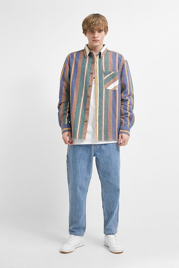 ceb14f4f5 PULL AND BEAR. Retro striped shirt ...
