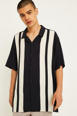 Uo Short Sleeve Striped Bowling Shirt by Urban Outfitters
