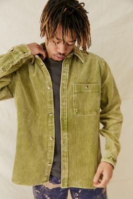 UO - Chemise de travail en velours vert mousse - Urban Outfitters - Modalova