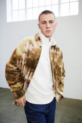 BDG Brown Tie-Dye Jumbo Corduroy Shirt - Brown M at Urban Outfitters