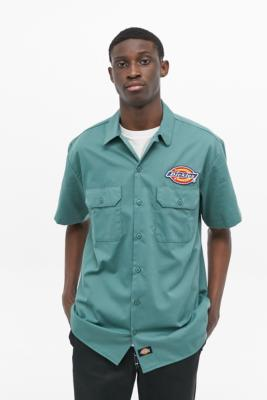 Dickies Clintondale Button-Through Shirt - Green L at Urban Outfitters