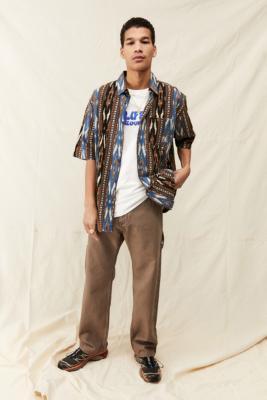 UO - Chemise à manches courtes Nomad imprimée et tissée - Urban Outfitters - Modalova