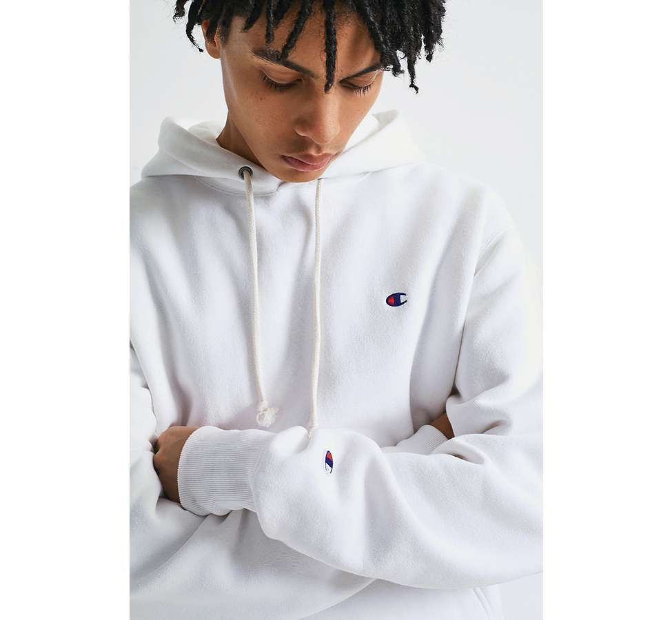 Slide View: 1: Champion X UO - Sweat à capuche Reverse Weave blanc