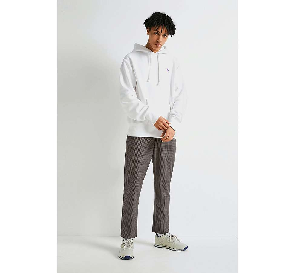 Slide View: 2: Champion X UO - Sweat à capuche Reverse Weave blanc