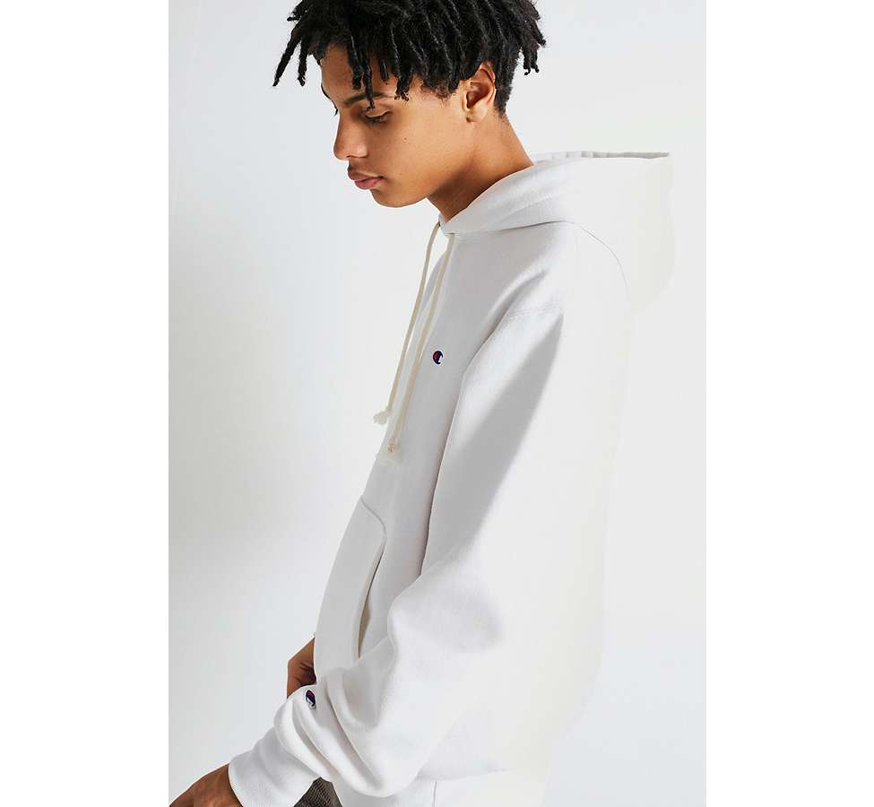Slide View: 3: Champion X UO - Sweat à capuche Reverse Weave blanc