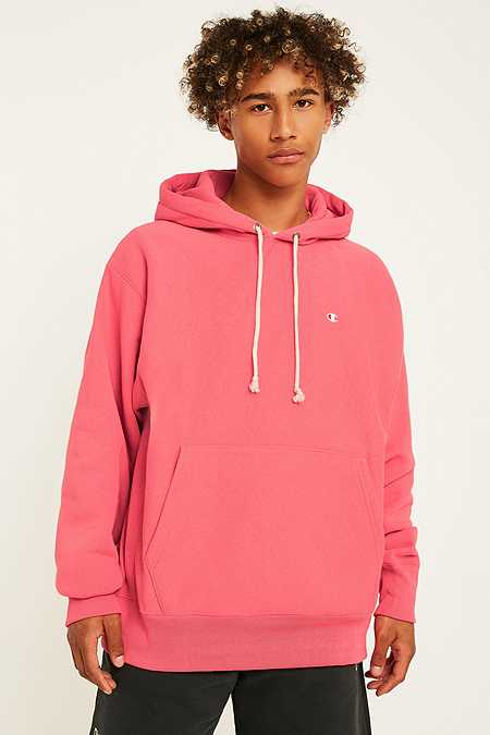Champion X UO – Inside-Out-Hoodie in Rosa