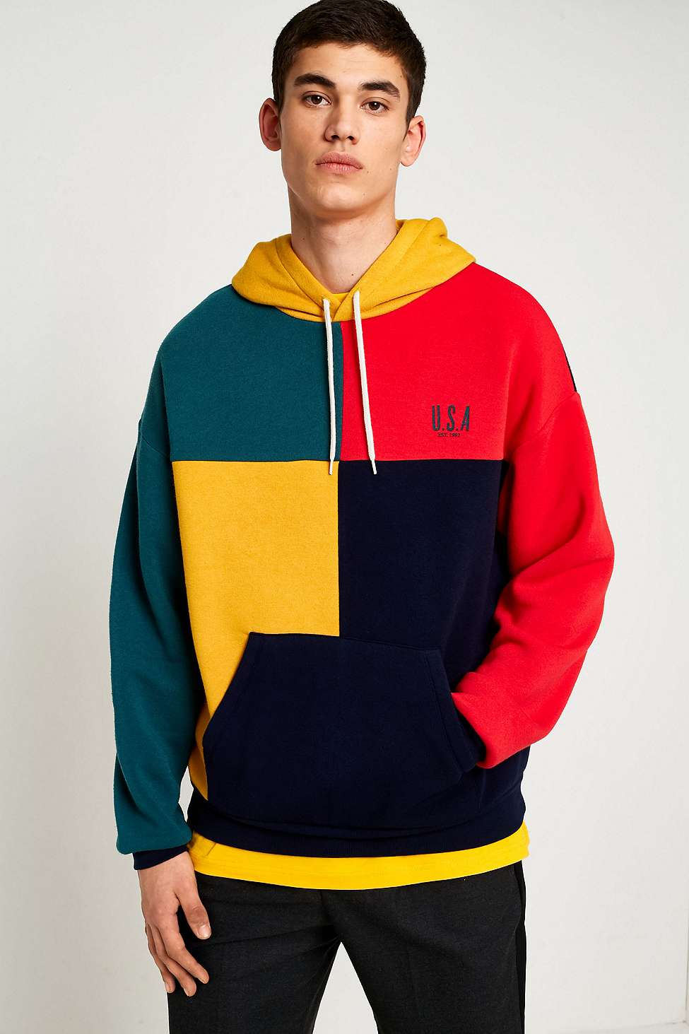 UO Colour Block USA Hoodie