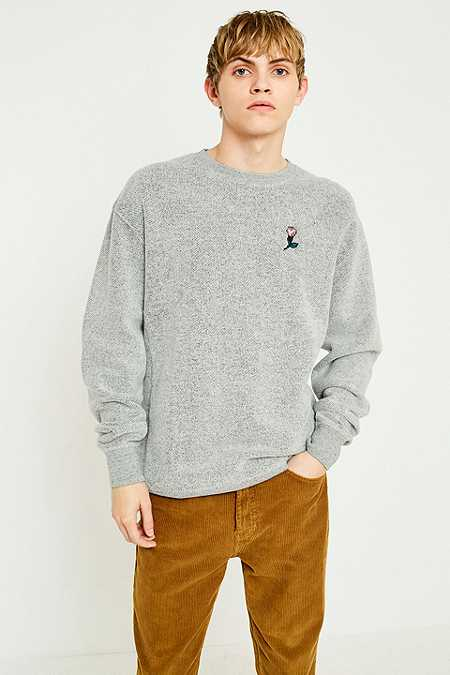 Shore Leave by Urban Outfitters – Gebürstetes Sweatshirt in Grau