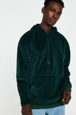 Iets Frans… Teal Corduroy Velour Hoodie by Iets Frans...