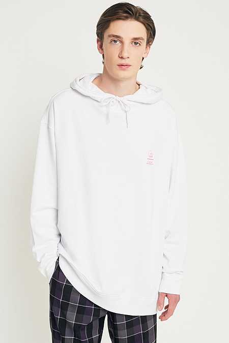 "Cheap Monday – Hoodie ""Line Skull"" in Weiß"