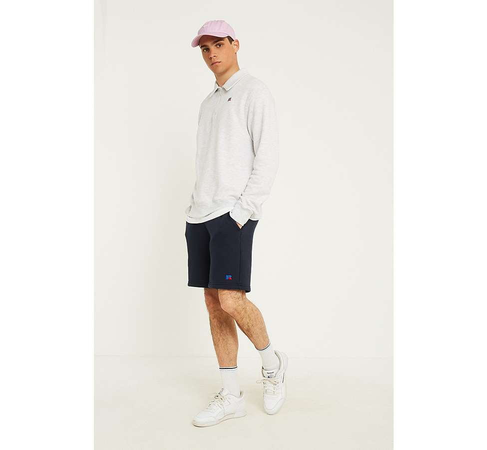 Slide View: 3: Russell Athletic Logo White Quarter Zip Polo Shirt