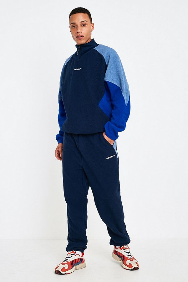 Pantalon Adidas MarineUrban De Eqt Molleton Bleu Survêtement En KuJF3lT51c