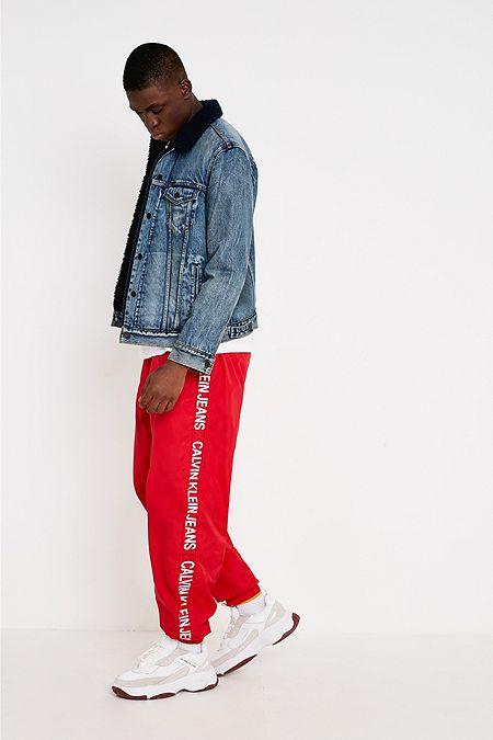 Calvin Klein Jeans Red Nylon Joggers 71e2fc27ac