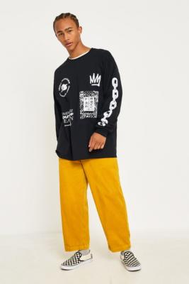 Uo Gold Corduroy Skate Chino Trousers by Urban Outfitters