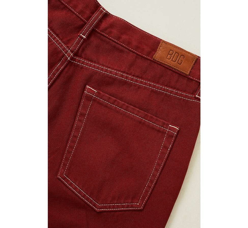 Slide View: 5: BDG - Jean dad surteint rouge brique