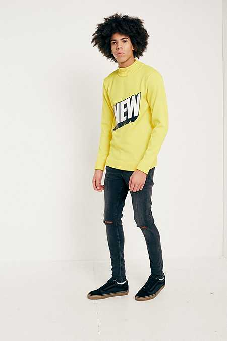 Cheap Monday Him Spray Used Black Skinny Jeans