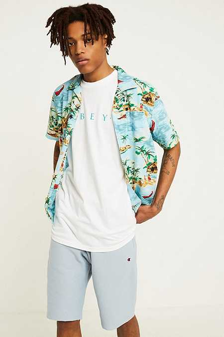 Champion X UO Dusty Blue Cut-Off Shorts