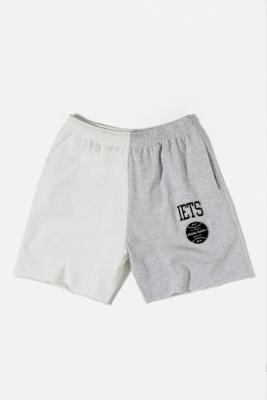 iets frans. Spliced Varsity Shorts - Beige S at Urban Outfitters