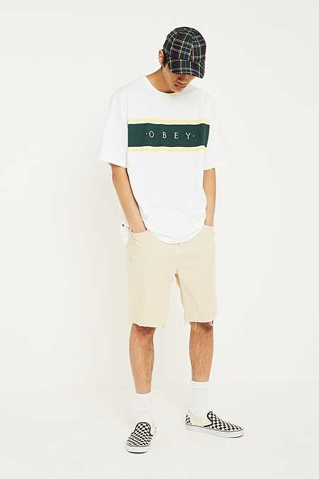 BDG Dad Corduroy Off-White Shorts