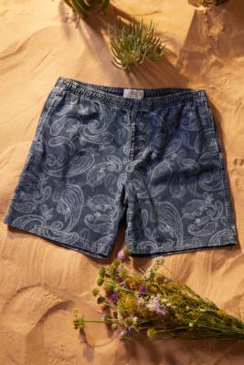 UO - Short denim\u00a0Nomad motif cachemire - Urban Outfitters - Modalova