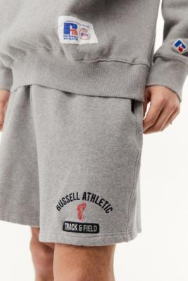 Russel Athletic UO Exclusive Grey Marl Delk Shorts - Grey L at Urban Outfitters