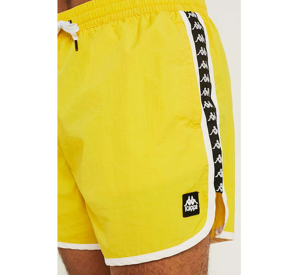 Slide View: 1: Kappa Authentic Agius Yellow Swim Shorts