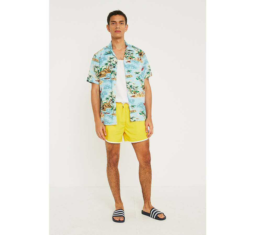 Slide View: 3: Kappa Authentic Agius Yellow Swim Shorts