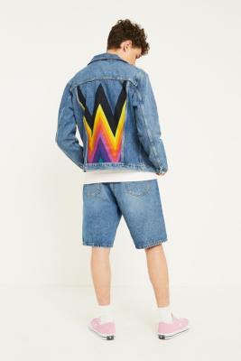 Wrangler Kabel Blue Denim Trucker Jacket - Mens M