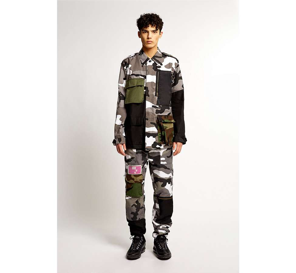 Slide View: 2: Liam Hodges X UO – Jacke in Camouflage in Grau