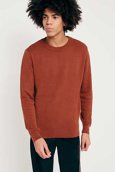 UO Rust Texture Knit Jumper