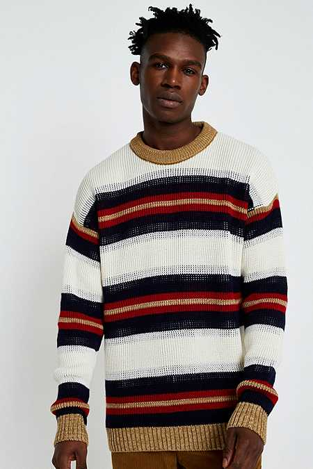 UO Striped Texture Knit Jumper