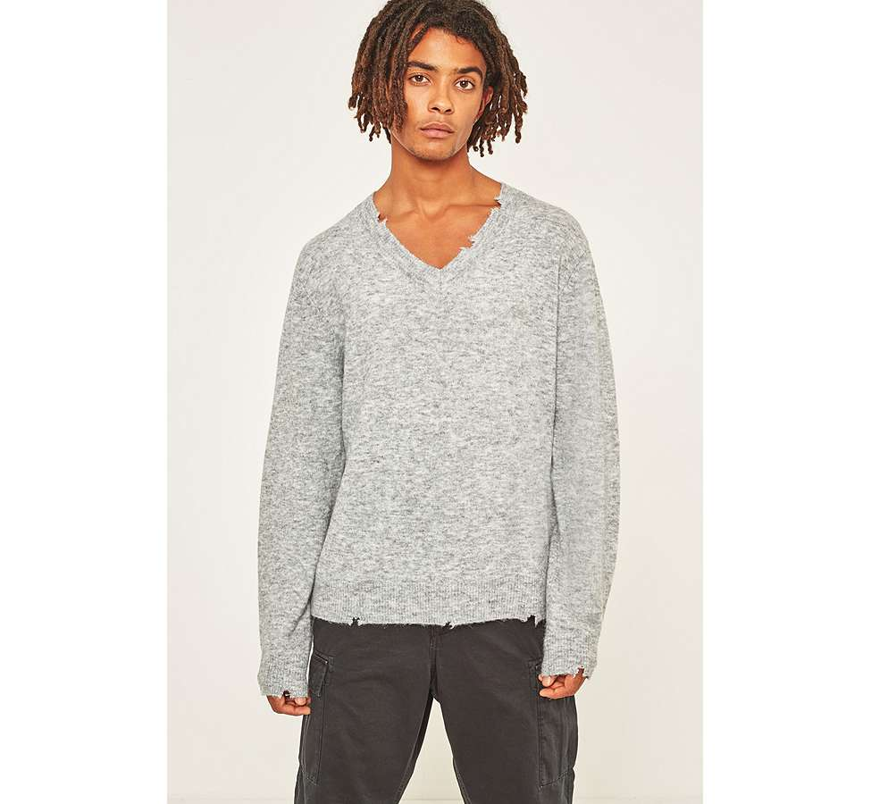 Slide View: 1: Cheap Monday – Melierter Strickpullover in Grau