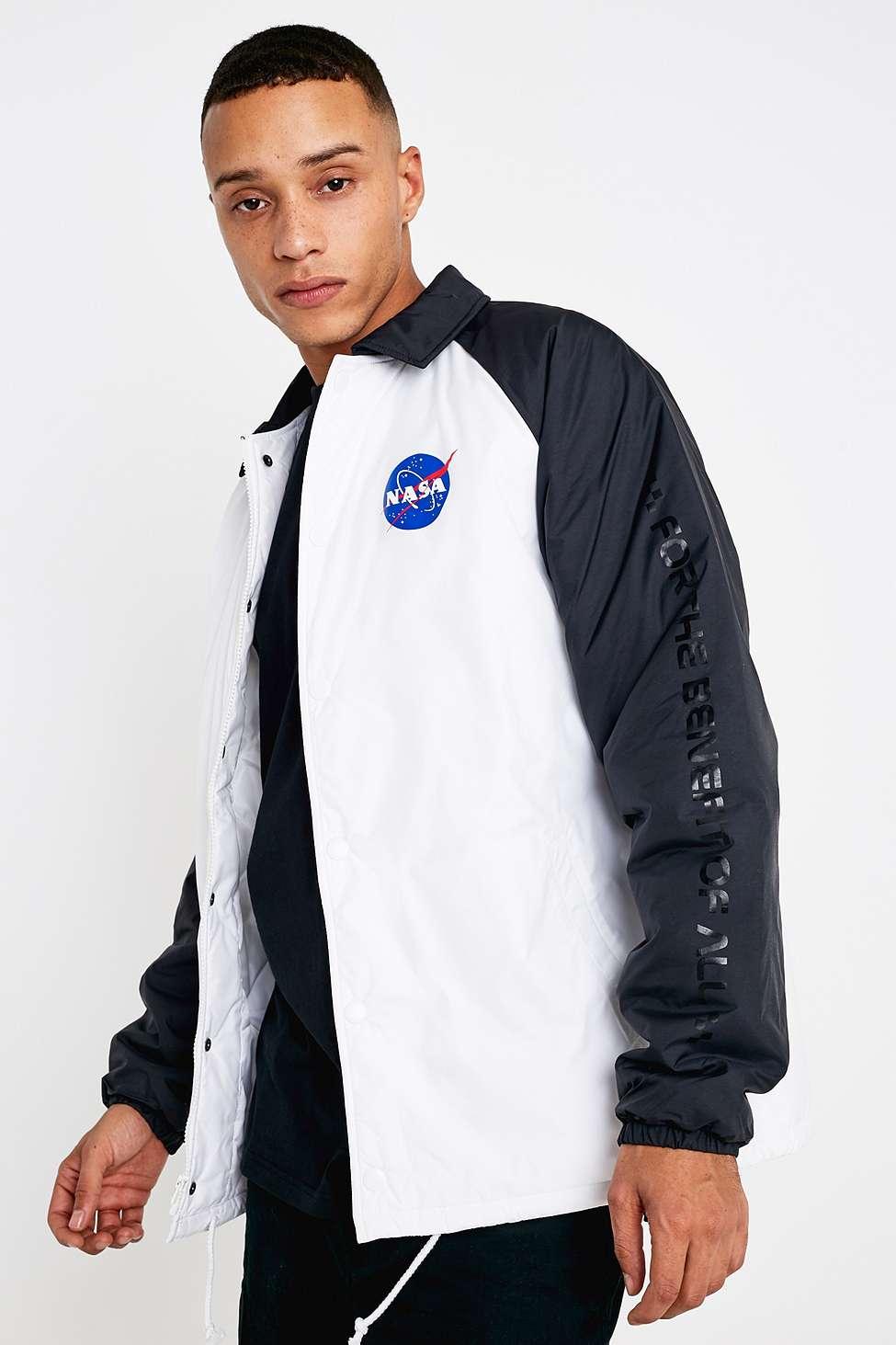 Vans Torrey Nasa White Padded Jacket Urban Outfitters Uk