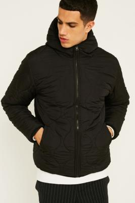 UO Onion Quilted Reversible Black Puffer Jacket - Mens M