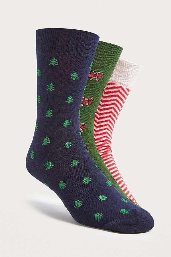 Slide View: 1: UO Christmas Socks Pack