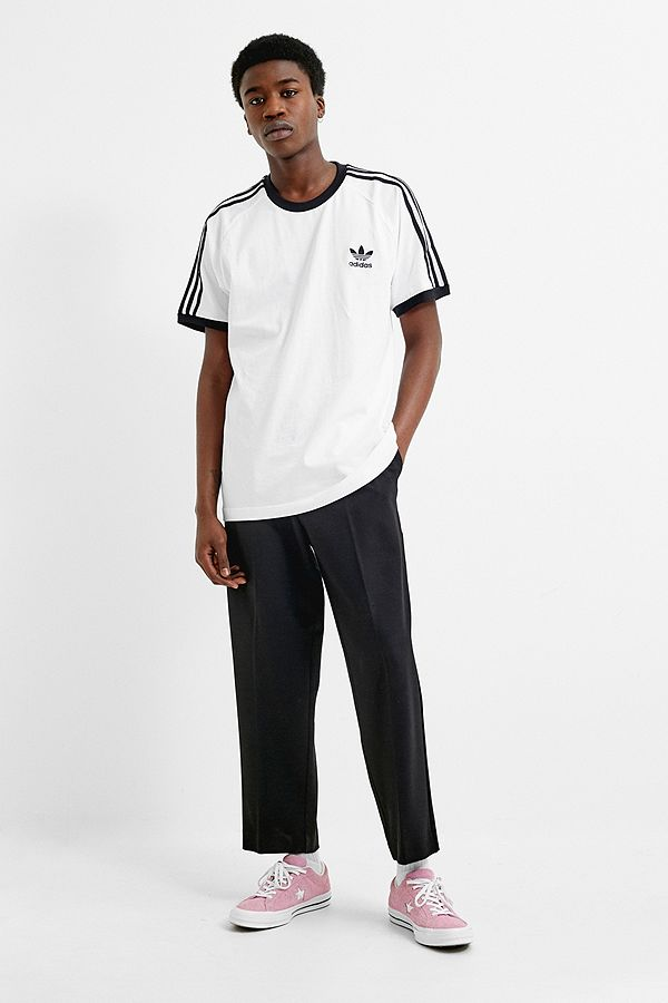 Outfitters Shirt Urban Bandes À T 3 Fr Blanc Adidas R0x1Uqw
