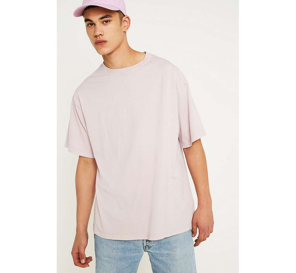 Slide View: 1: UO - T-shirt Dad rose poudré effet teint