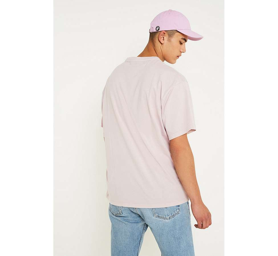 Slide View: 2: UO Dusty Pink Pigment Dyed Dad T-Shirt