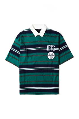 iets frans. Green & Navy Stripe Rugby Shirt - Assorted L at Urban Outfitters