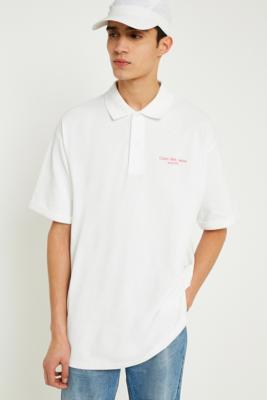 Calvin Klein Jeans – Locker Geschnittenes Poloshirt In Weiß by Calvin Klein Shoppen
