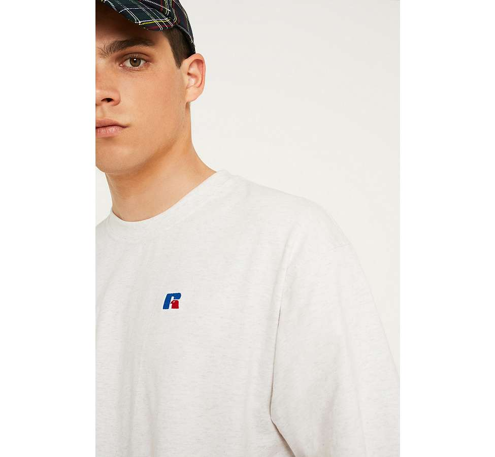 Slide View: 2: Russell Athletic – T-Shirt in Weiß mit Logo