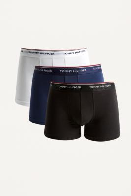 Tommy Hilfiger Navy, White And Black Boxer Trunks 3 Pack by Tommy Hilfiger