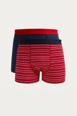 Uo   Lot De 2 Boxers Bobby à Rayures by Urban Outfitters